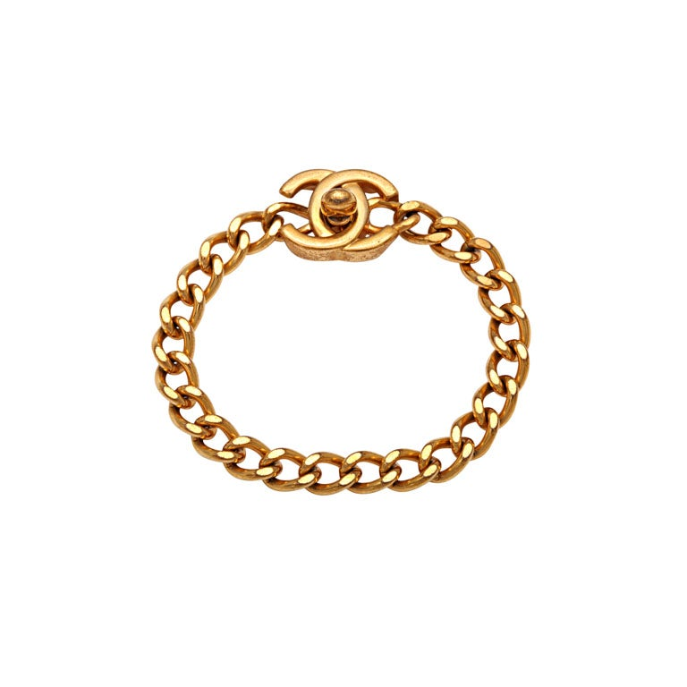 CHANEL CC LOGO CLOSURE BRACELET 1