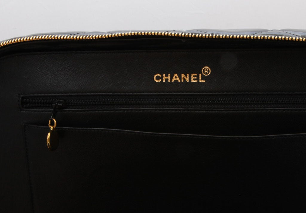 CHANEL PATENT LEATHER LARGE QUILTED BAG 7