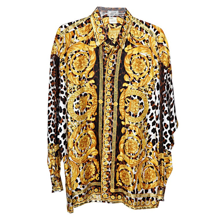 073a745d GIANNI VERSACE BAROQUE PRINT SHIRT at 1stdibs
