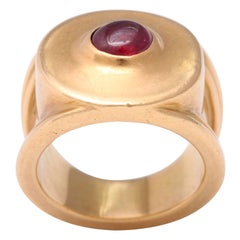 Reinstein Ross Ruby and 22 Karat Gold Band Ring