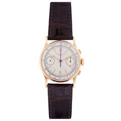 Patek Philippe Rose Gold Chronograph Wristwatch Ref 130