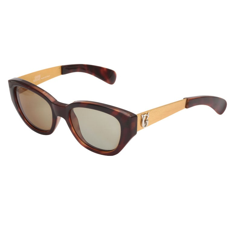 gianni versace sunglasses mod 462 a col 900 at 1stdibs