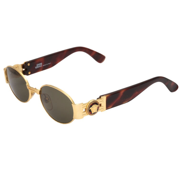 gianni versace sunglasses mod s71 col 030 at 1stdibs. Black Bedroom Furniture Sets. Home Design Ideas