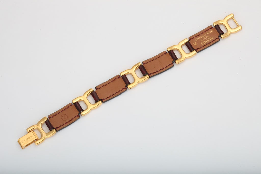HERMES POROSUS CROCODILE LINK BRACELET image 4