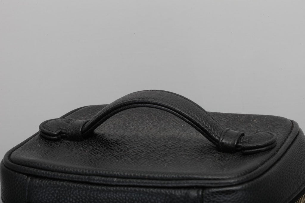 Women's Chanel Black Cavier Skin Vanity Bag For Sale