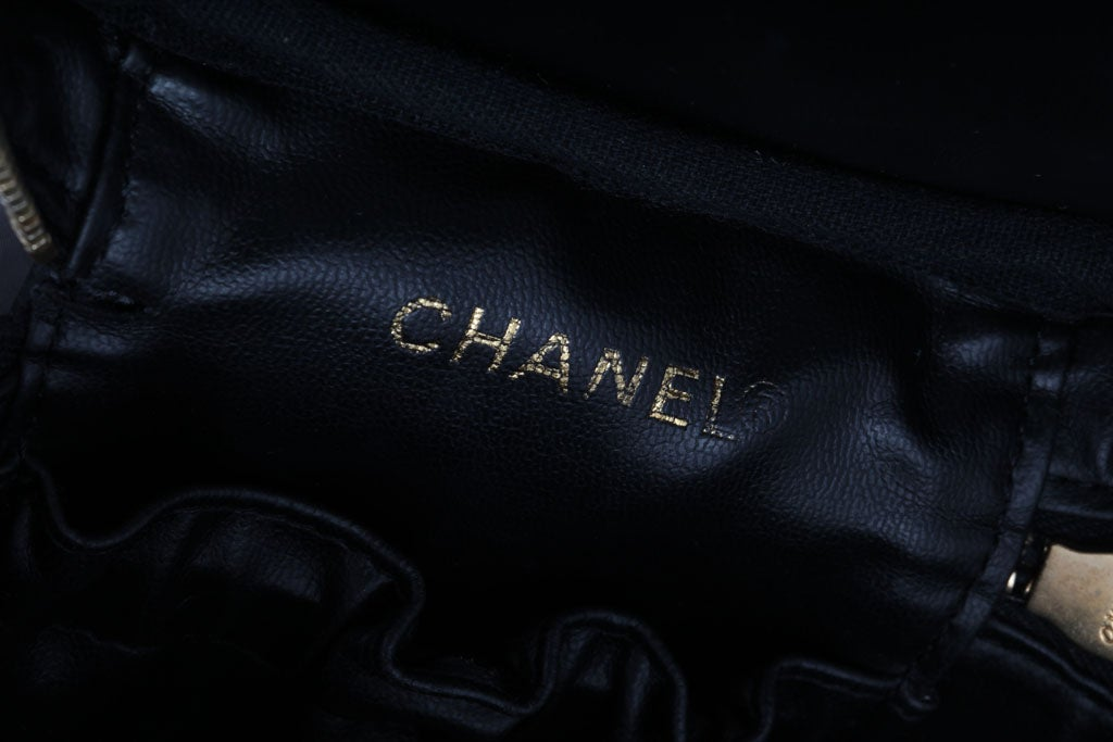 Chanel Black Cavier Skin Vanity Bag For Sale 1