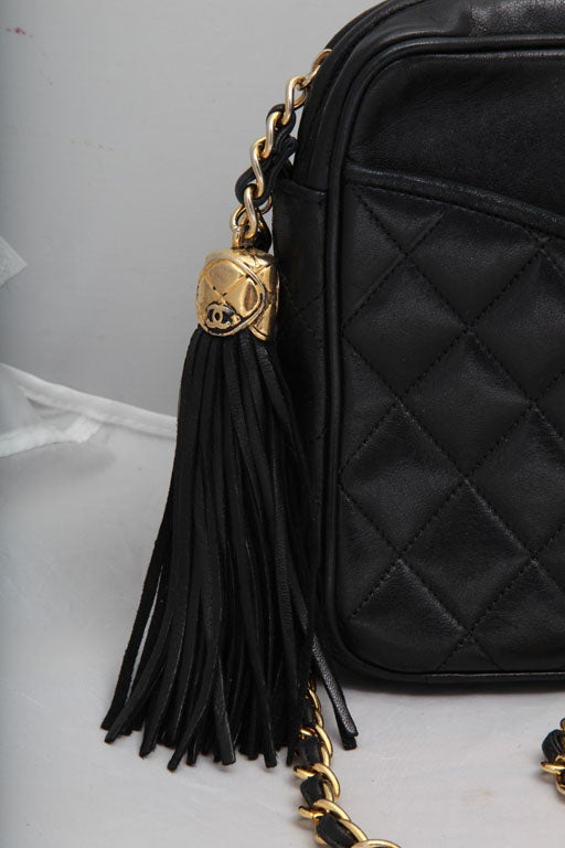 CHANEL QUILTED LAMBSKIN TASSEL BAG 3