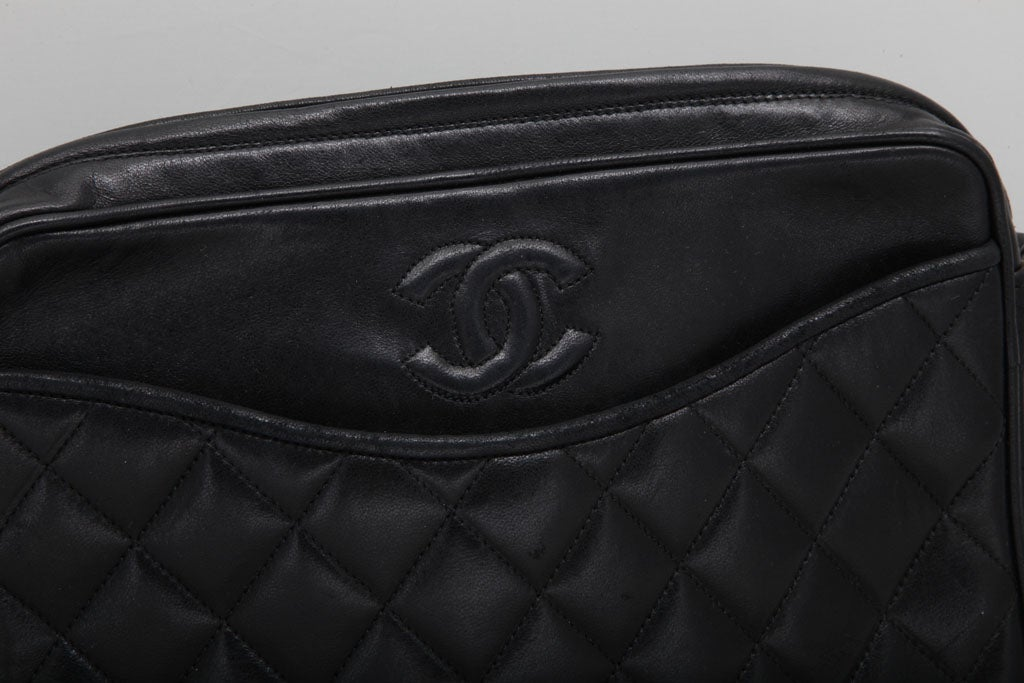 CHANEL QUILTED LAMBSKIN TASSEL BAG 4
