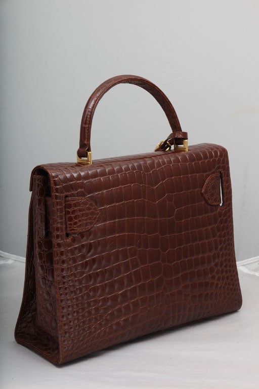 GIANNI VERSACE COUTURE CROC EMBOSSED BAG WITH MEDUSAS 6