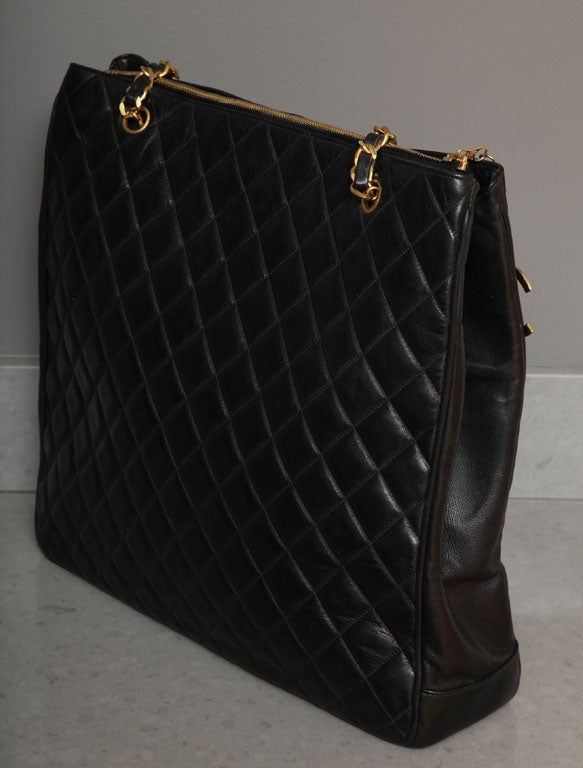 Chanel Black Tote Bag with Quilted Details 5