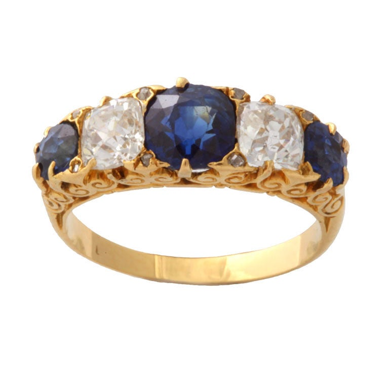 antique sapphire and ring at 1stdibs