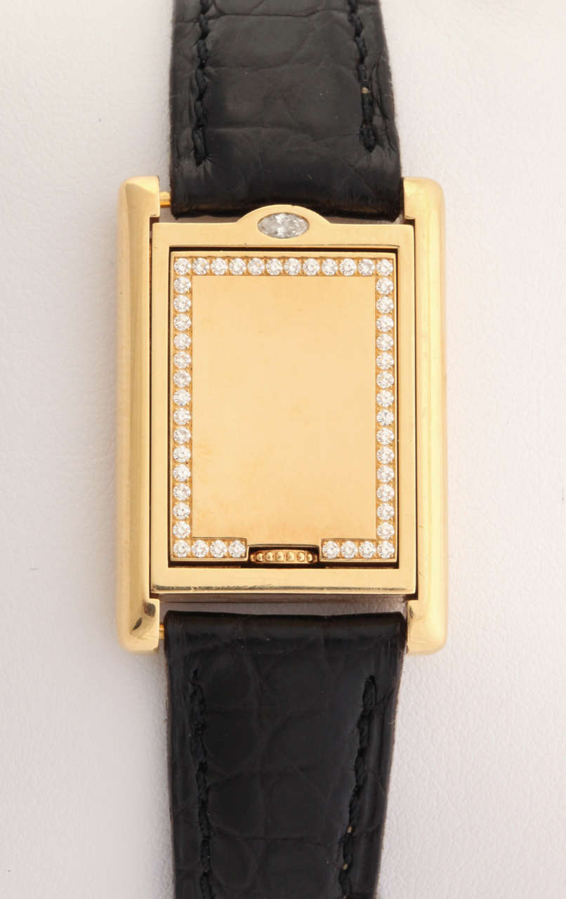 en ricaine women am gb americaine watches pm fine yellow tank ref designers golden gold jewellery cartier womens