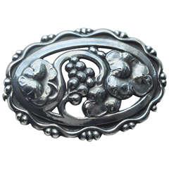 Georg Jensen Art Deco Sterling Silver Brooch