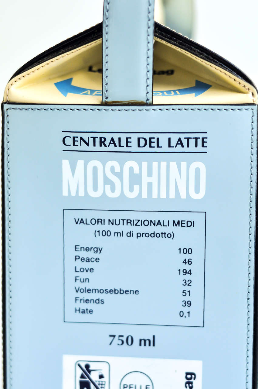 "1990s Moschino ""Milk Carton"" Leather Handbag 4"