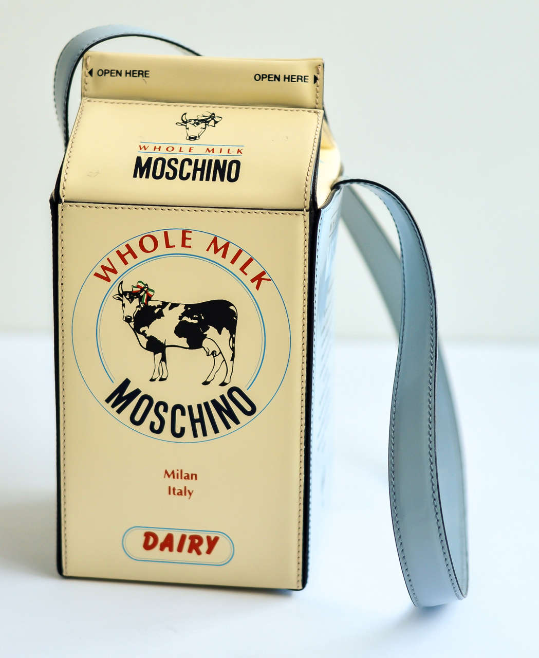"1990s Moschino ""Milk Carton"" Leather Handbag 5"