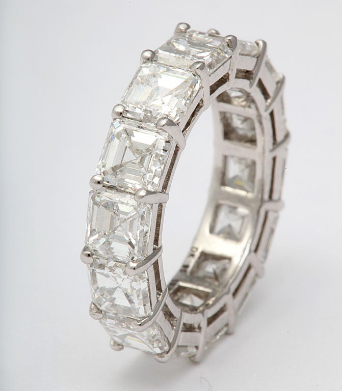 14 near colorless to colorless Ascher Cut diamonds 10.14 carats