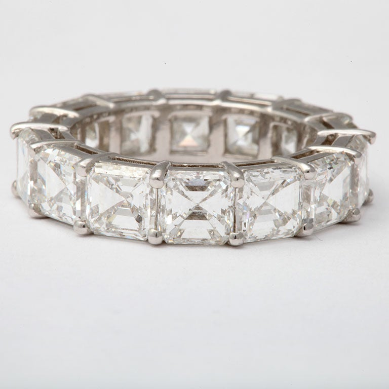 Women's Spectacular Platinum  and Diamond Wedding Band For Sale