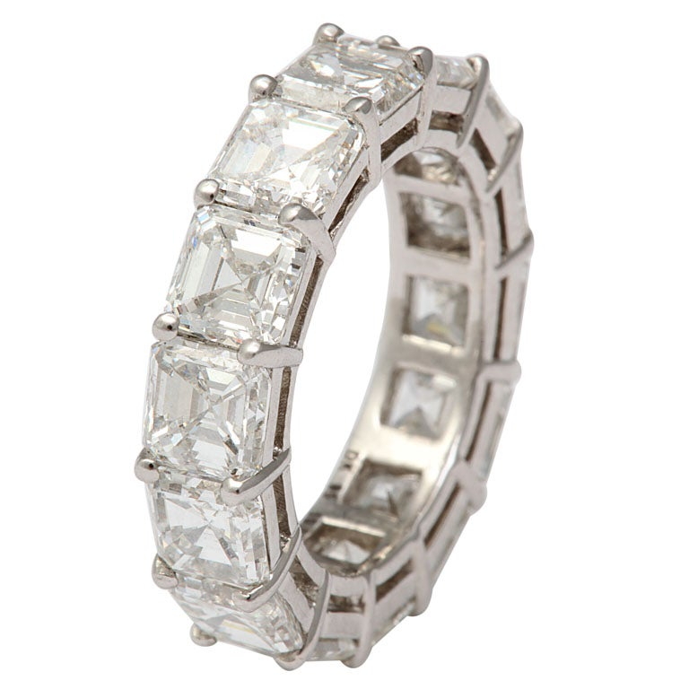 Spectacular Platinum  and Diamond Wedding Band For Sale