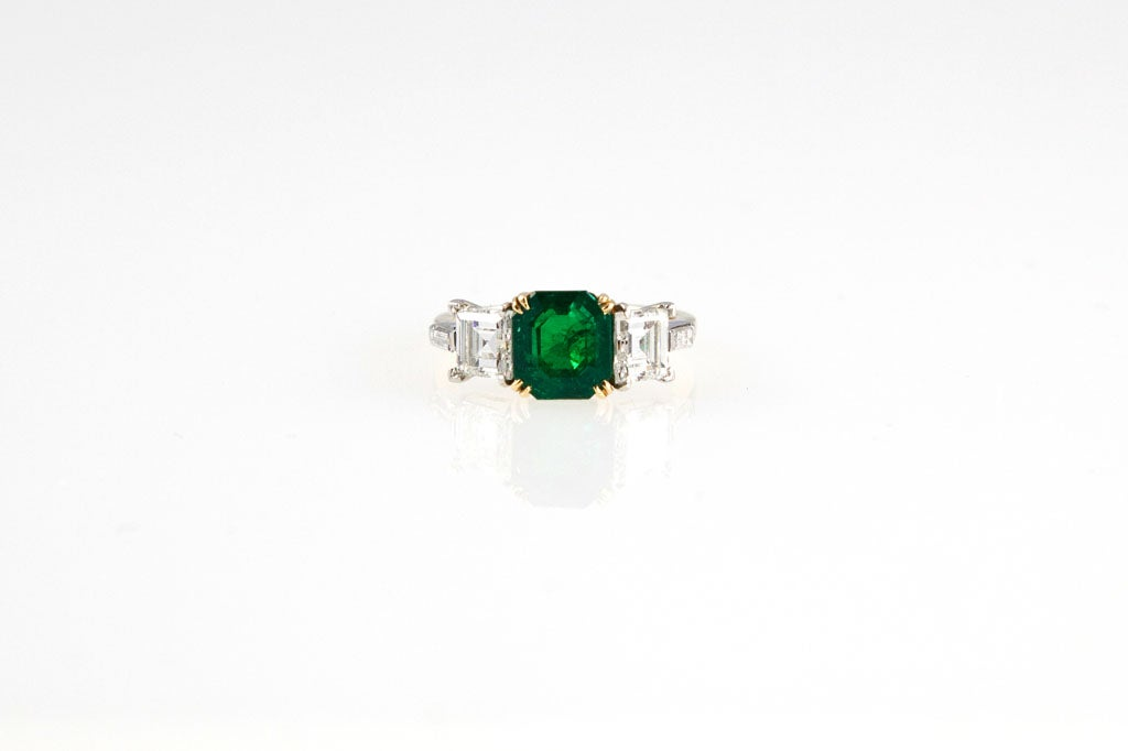 beautiful emerald gold platinum ring for sale at