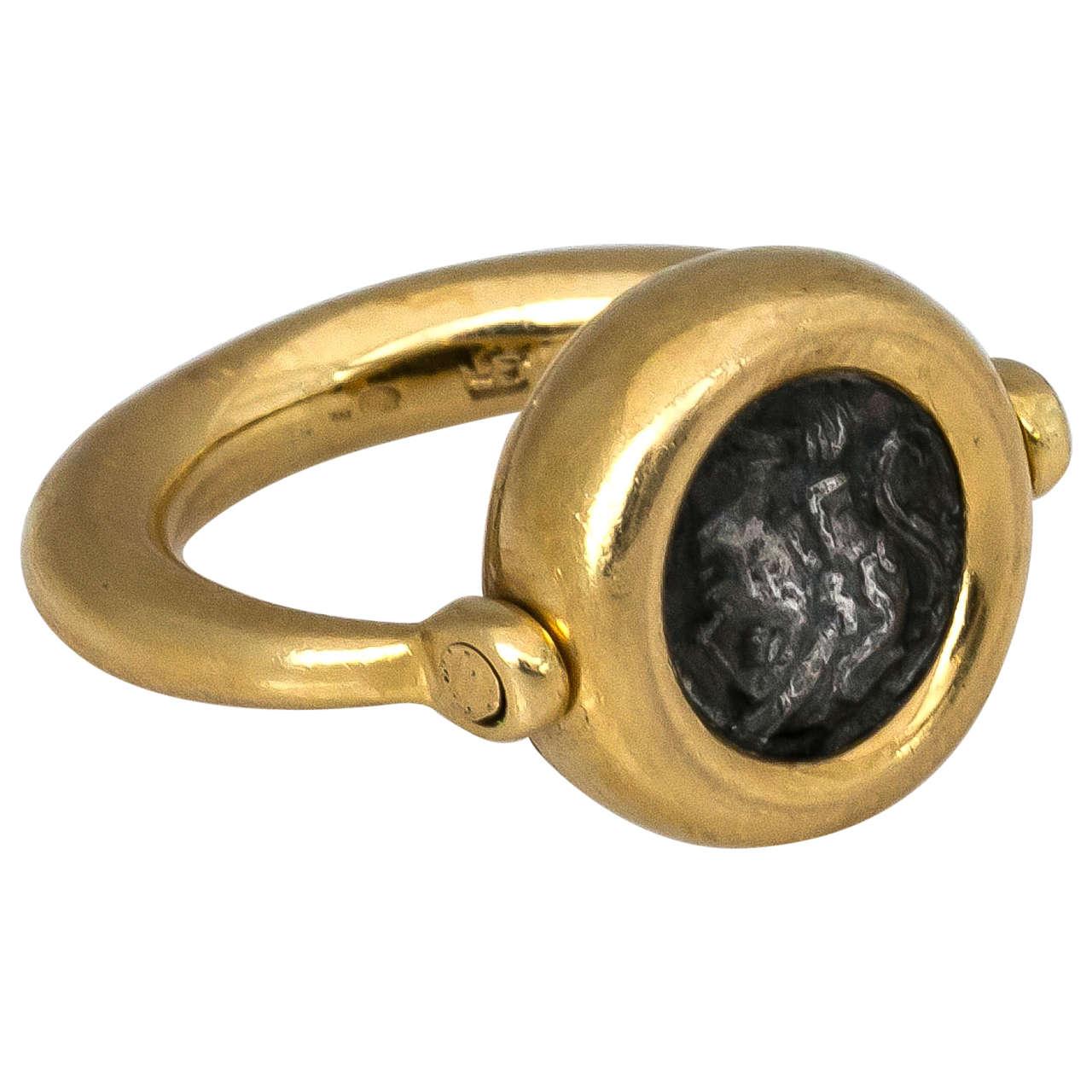 bulgari ancient coin flip ring 1