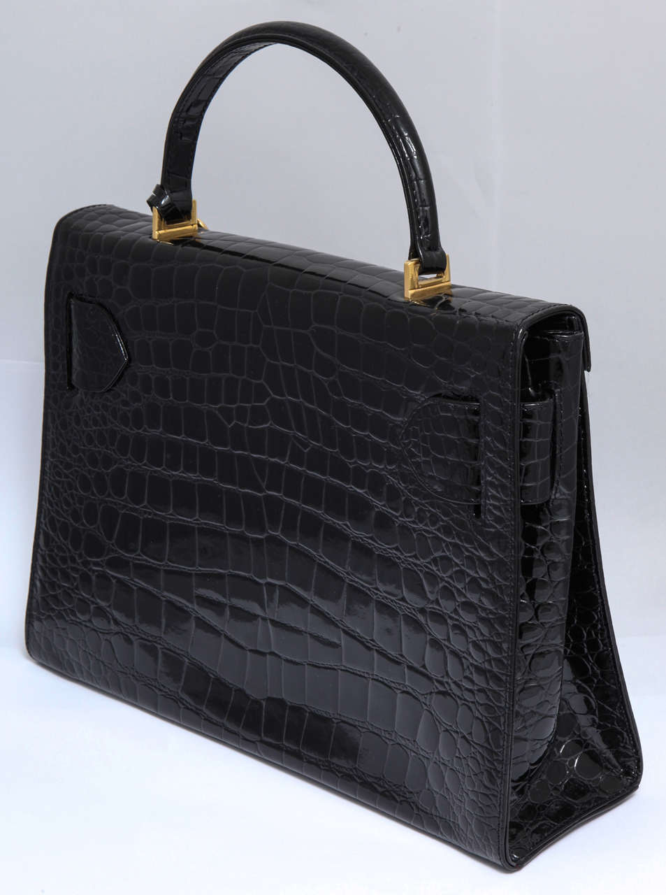 Gianni Versace Croc Embossed Couture Bag With Medusas 5