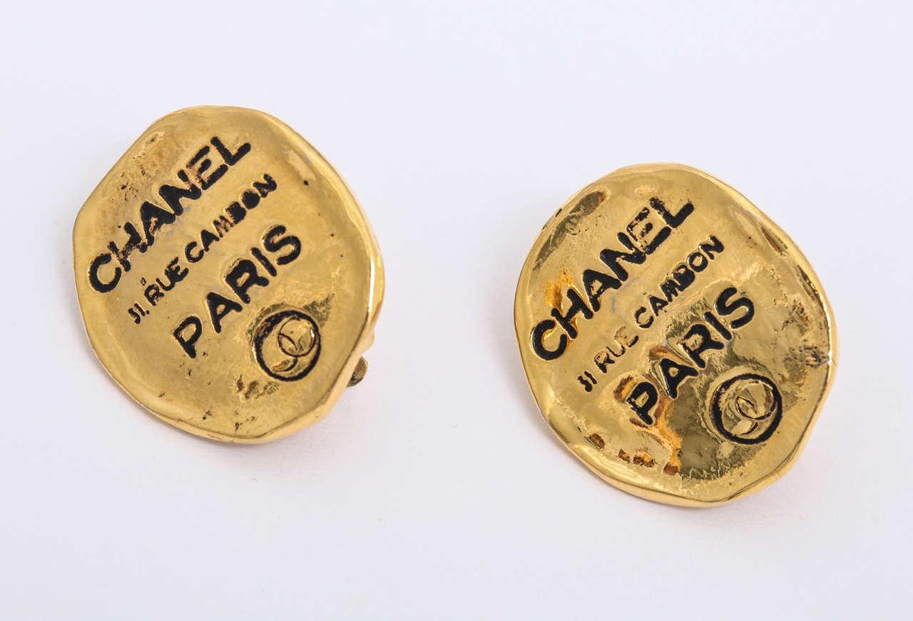 Chanel Rue Cambon Clip-On Earrings 2
