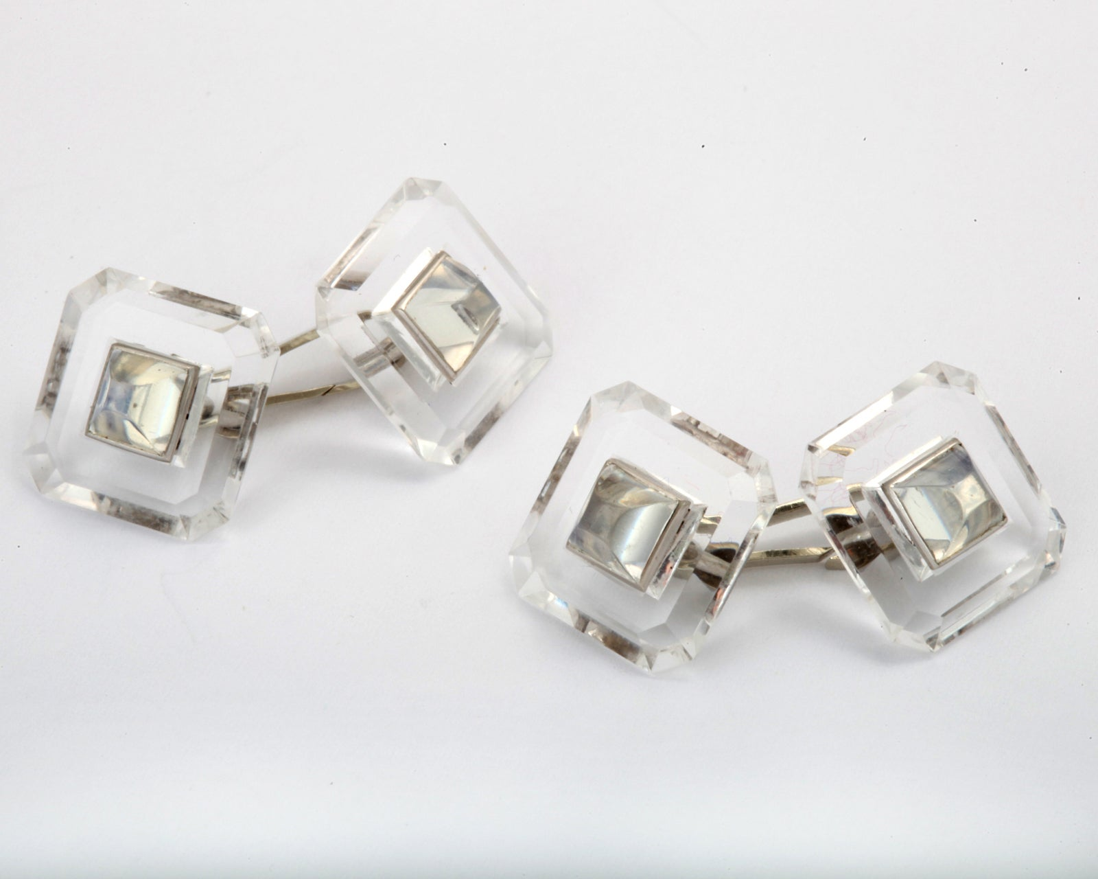 Yafa signed jewels new york ny 1stdibs page 4 - Art Deco Rock Crystal And Moonstone Cuff Links 2