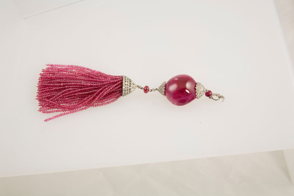 Exceptional Spinel Tassel Necklace 3