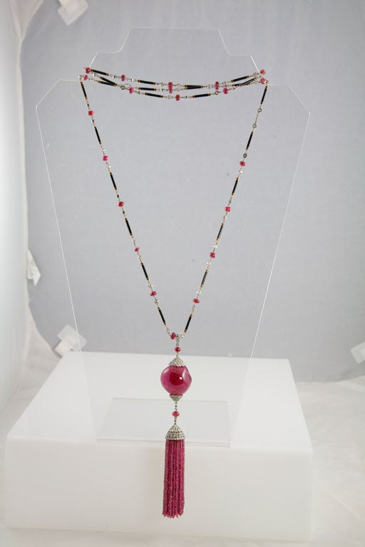 Exceptional Spinel Tassel Necklace 4