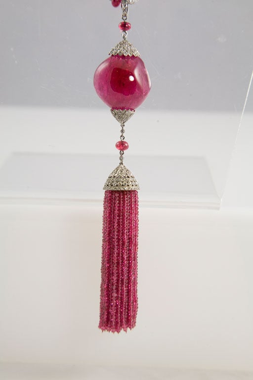 Exceptional Spinel Tassel Necklace 5