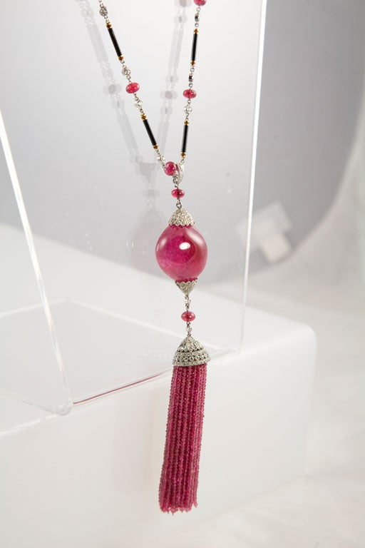 Exceptional Spinel Tassel Necklace 7