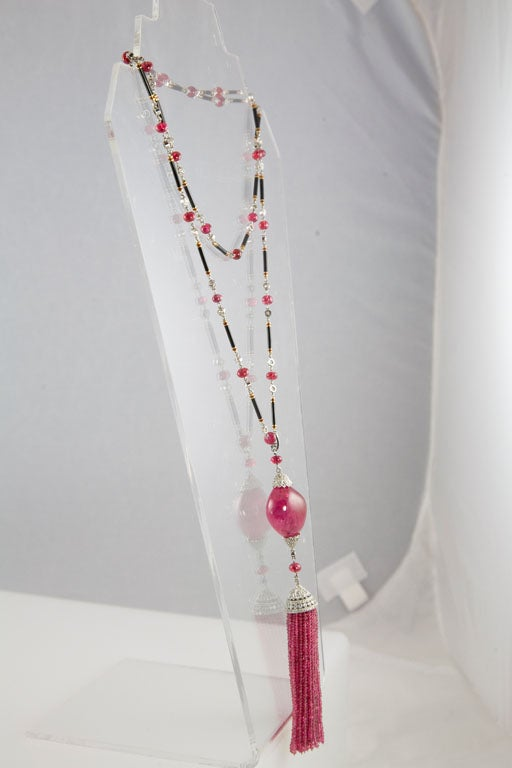Exceptional Spinel Tassel Necklace 8