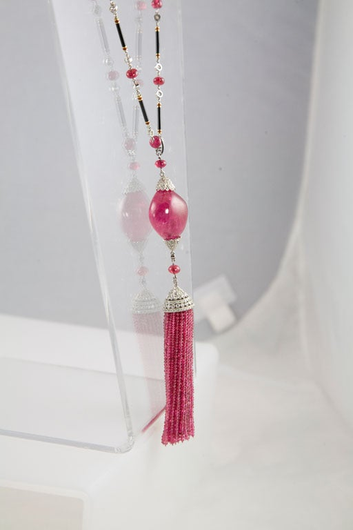 Exceptional Spinel Tassel Necklace 9