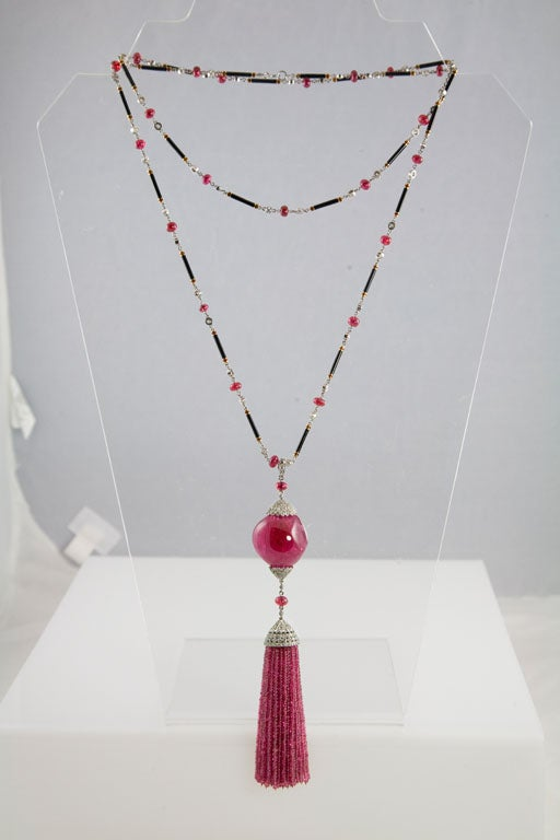Exceptional Spinel Tassel Necklace 2