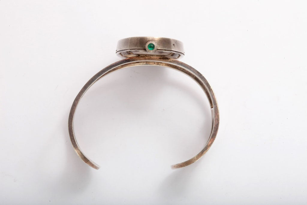 60s Sterling Bracelet Wristwatch by Galana For Sale 3