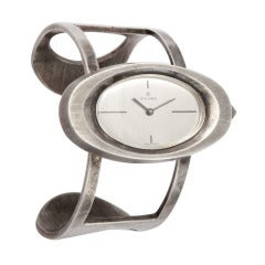 60's Sterling Bracelet Watch by Galana