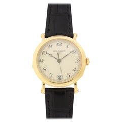 Patek Phlippe Yellow Gold Officer's Wristwatch Ref 5053J