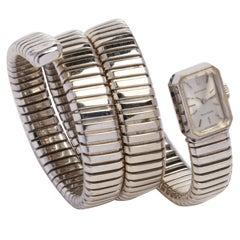 Bulgari White Gold Serpent Bracelet Watch by Movado circa 1960s