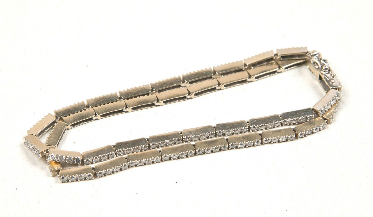 white gold bracelet presented by carol marks at