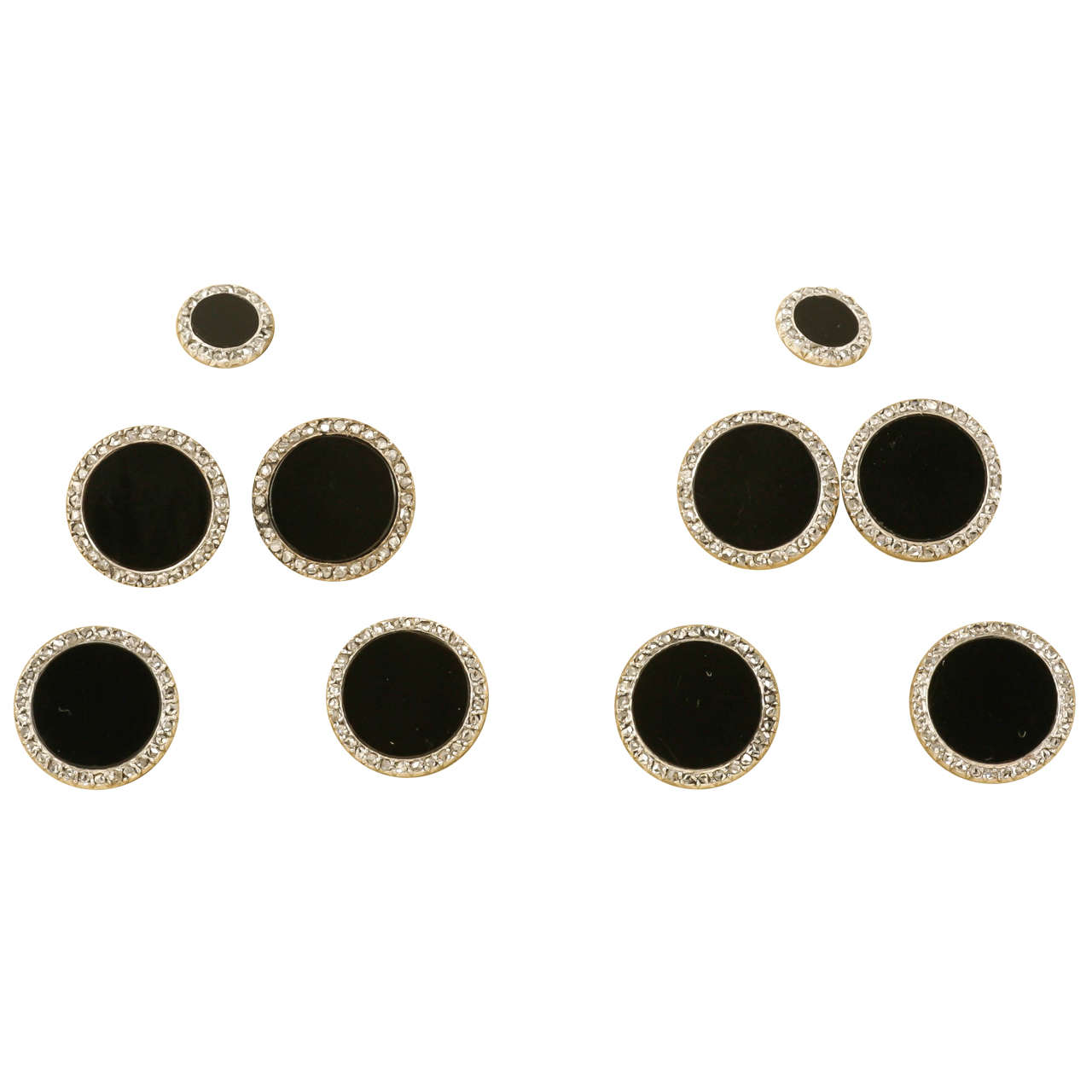 earrings steel michael a stainless jewellers stud image button plated grahams kors rose gold
