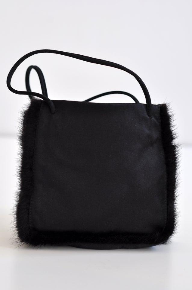 Prada 1990s Prada Evening Bag With Mink Trim I1cccA