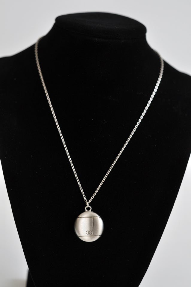 Silver Pendant and Chain by Chanel 3