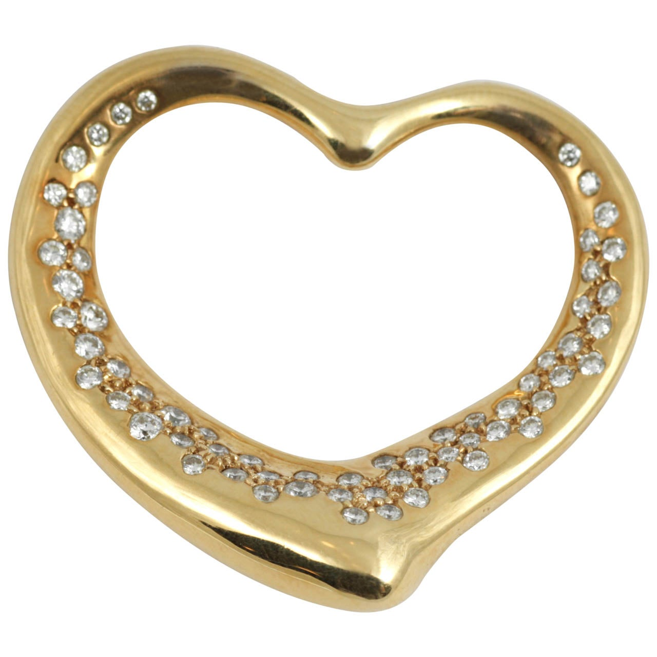 Tiffany and co diamond gold heart pendant at 1stdibs tiffany co diamond gold heart pendant 1 aloadofball Image collections