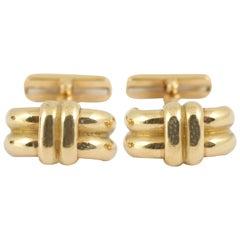 Chaumet Paris Heavy Yellow Gold Cufflinks