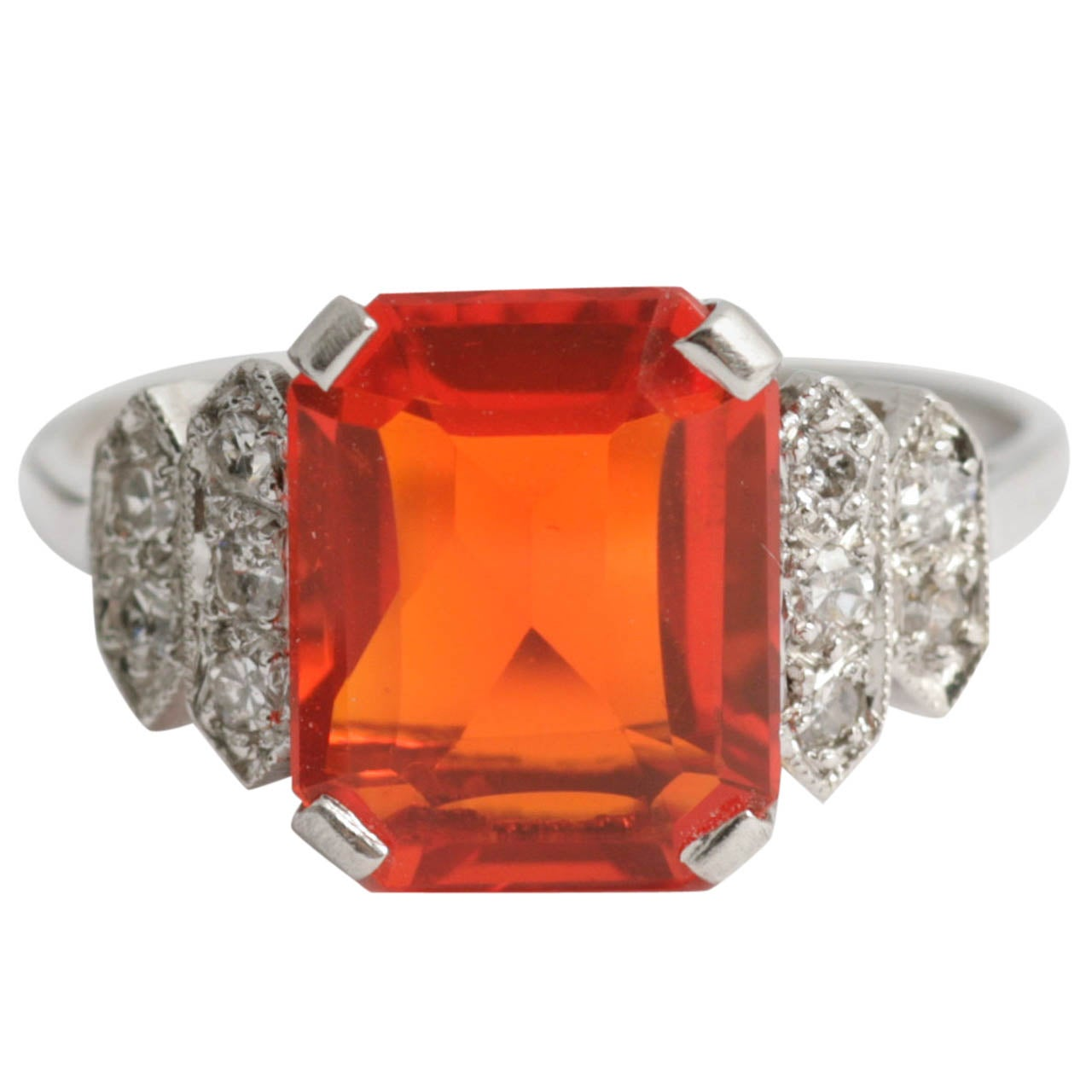 Fire Opal Ring At 1stdibs
