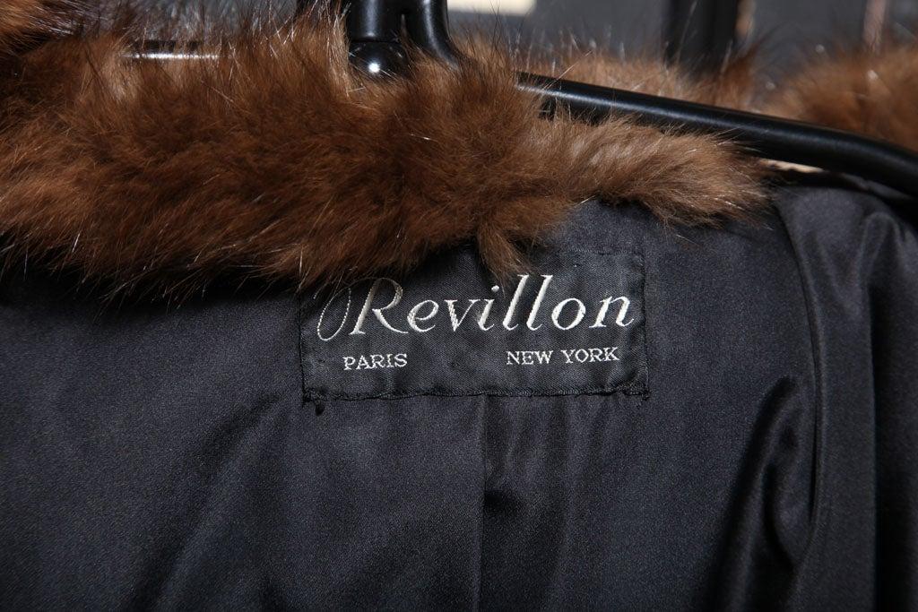 Russian Broadtail & Sable Vintage Fur Coat by Revillon For Sale 3
