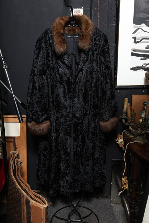 Exceptional Russian Broadtail & Sable Fur Coat-size Medium