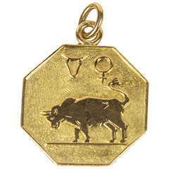 Buccelatti Taurus Zodiac Gold Charm Pendant
