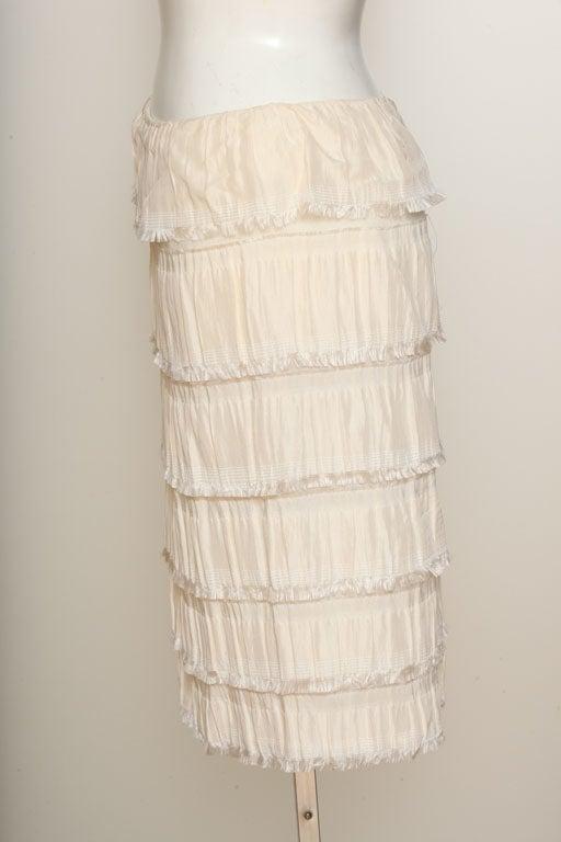 Rodarte Silk Tiered Skirt 3