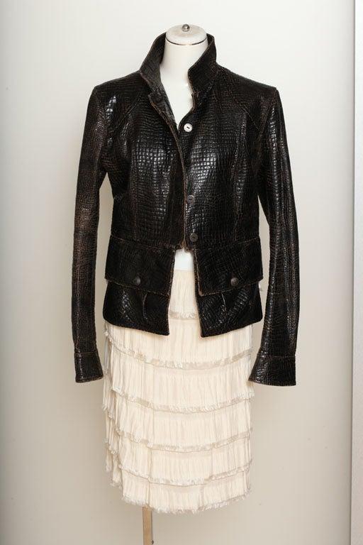 Rodarte Silk Tiered Skirt 4